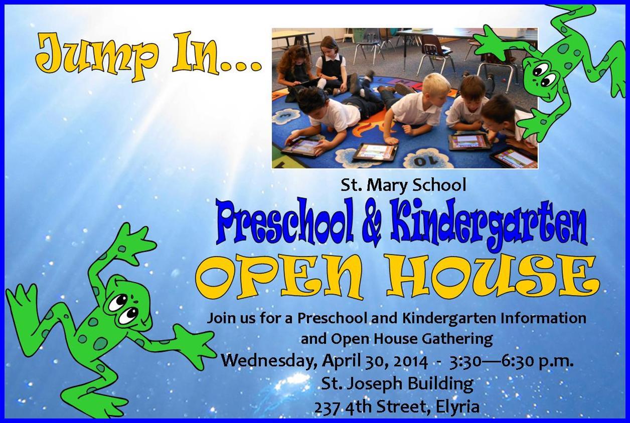 Jump In To Preschool And Kindergarten St Mary Catholic School