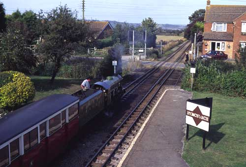 """""""Green Goddess"""" works the 13.51 service to Hythe."""