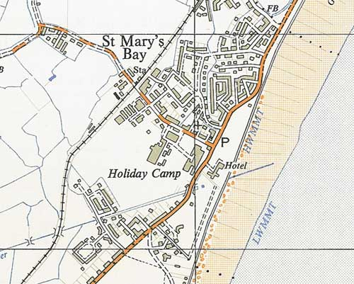 Extract from Ordnance Survey map, 1960