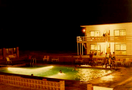 Motel at night, August 1982