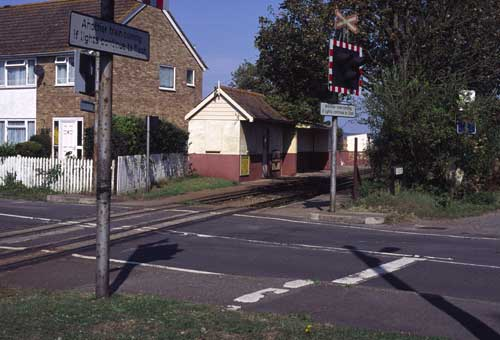 The level crossing at Jefferstone Lane, St Mary's Bay.