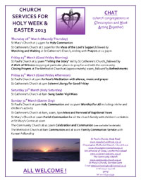 CHAT-Easter-Services-for-Chessington-CHAT-2013