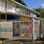 Front gate of St Mary's childcare centre.