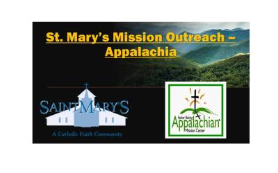 Update: St. Mary's Mission Outreach – Appalachia