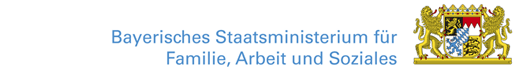 Logo: Bayerisches Staatsministerium für Familie, Arbeit und Soziales