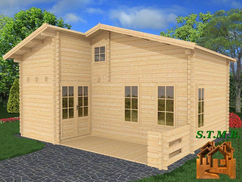 chalet bois habitable en kit modele orme 33 m2 avec mezzanine