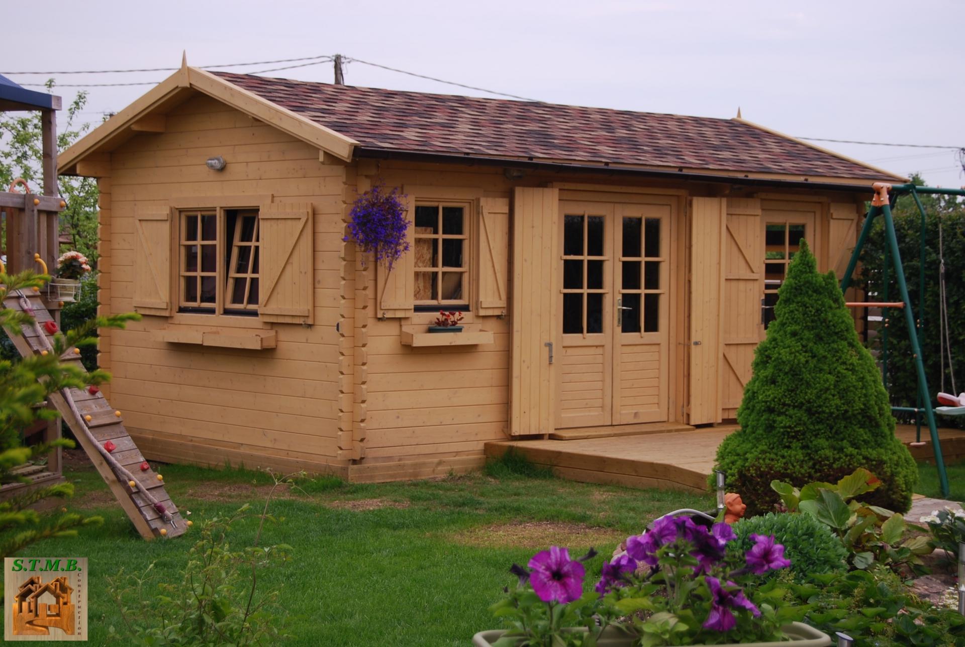 Maison chalet bois en kit chalet mezzanine en kit tipi for Chalet en bois en kit