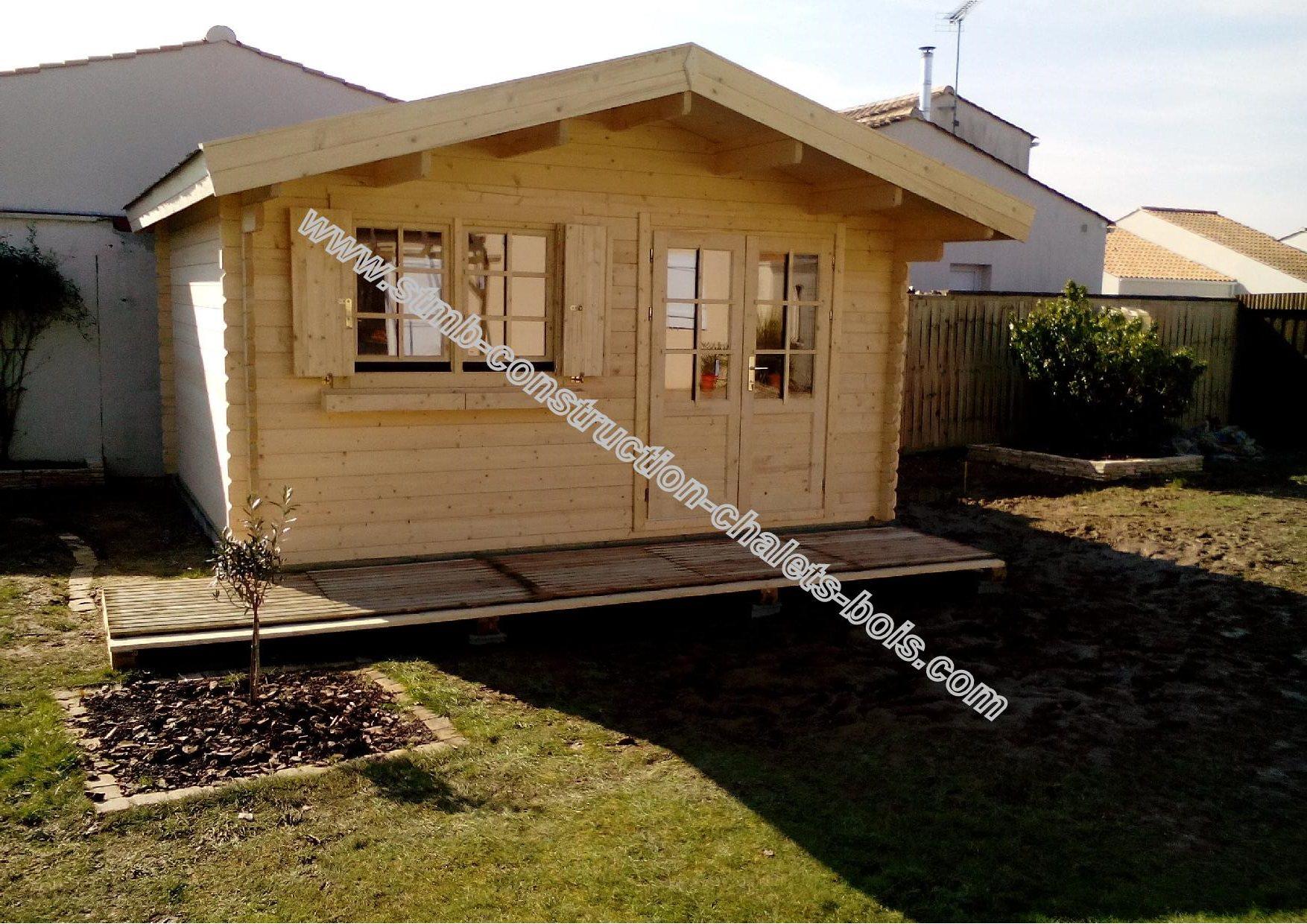 kit chalet en bois habitable de loisirs LAURIER 20 de 20 m  STMB Construction