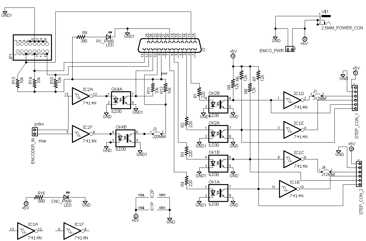 hight resolution of a freeware version of eagle cad is available and was used to create this click on the schematic and board for larger images