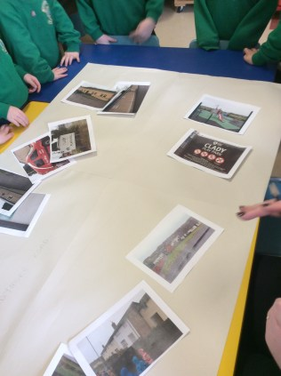 Today we were planning our work and painting a map of our locality based on the pictures we took on our walk yesterday.
