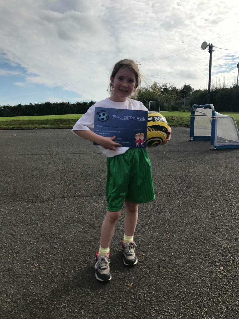 2017/18, Burns Soccer School - Player of the Week