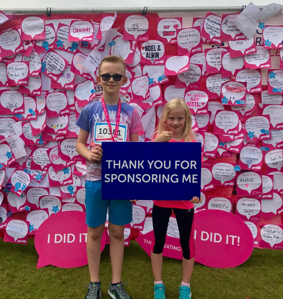 Eli & Ivah complete 10km  Race for Life and Fundraise for Cancer Research