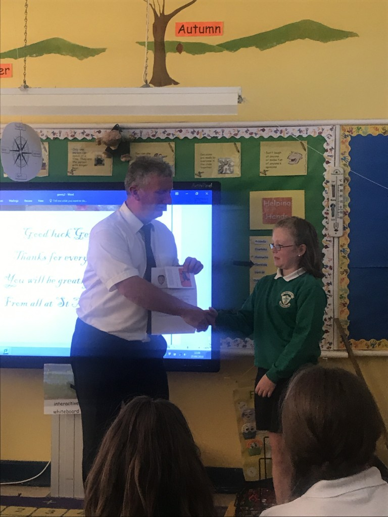 2017/18, Cumann na MBunscol Poetry Competition Winner