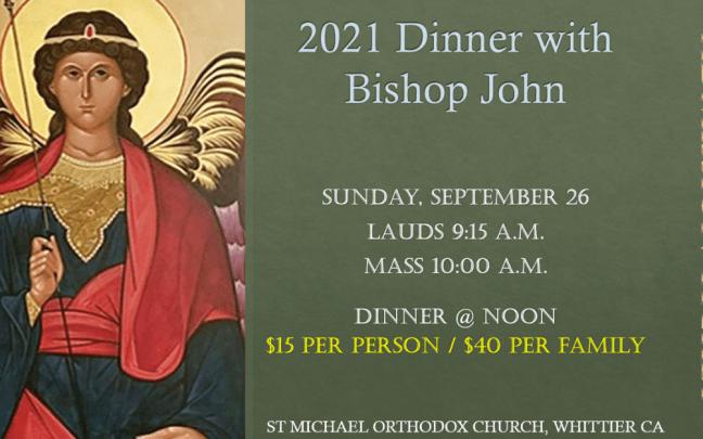 2021 Dinner with Bishop John