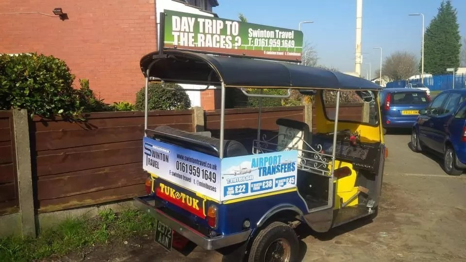 Tuk Tuk With Advertising