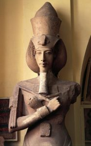 Llimestone statue of Amenhotep IV (Akhenaten), from Aton Temple at Karnak | Courtesy of Bridgeman DeAgostini Library