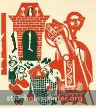 St Nicholas bringing gifts