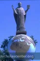 New statue of St Nicholas