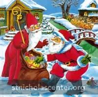 St Nikolaus and Santa Claus