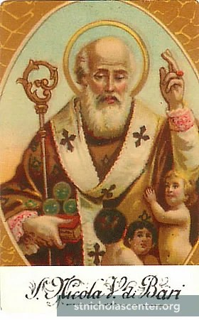 St. Nicholas, Bishop of Myra, taken from StNicholasCenter.com.