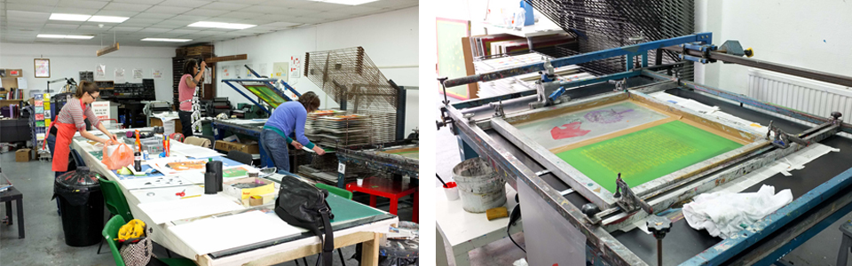 Screen print studio
