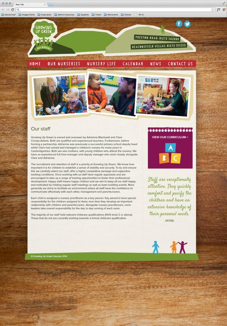 Nursery website inner page design