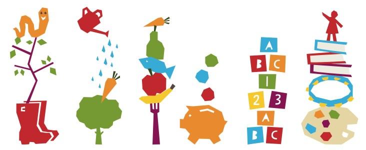 Nursery branding illustrations
