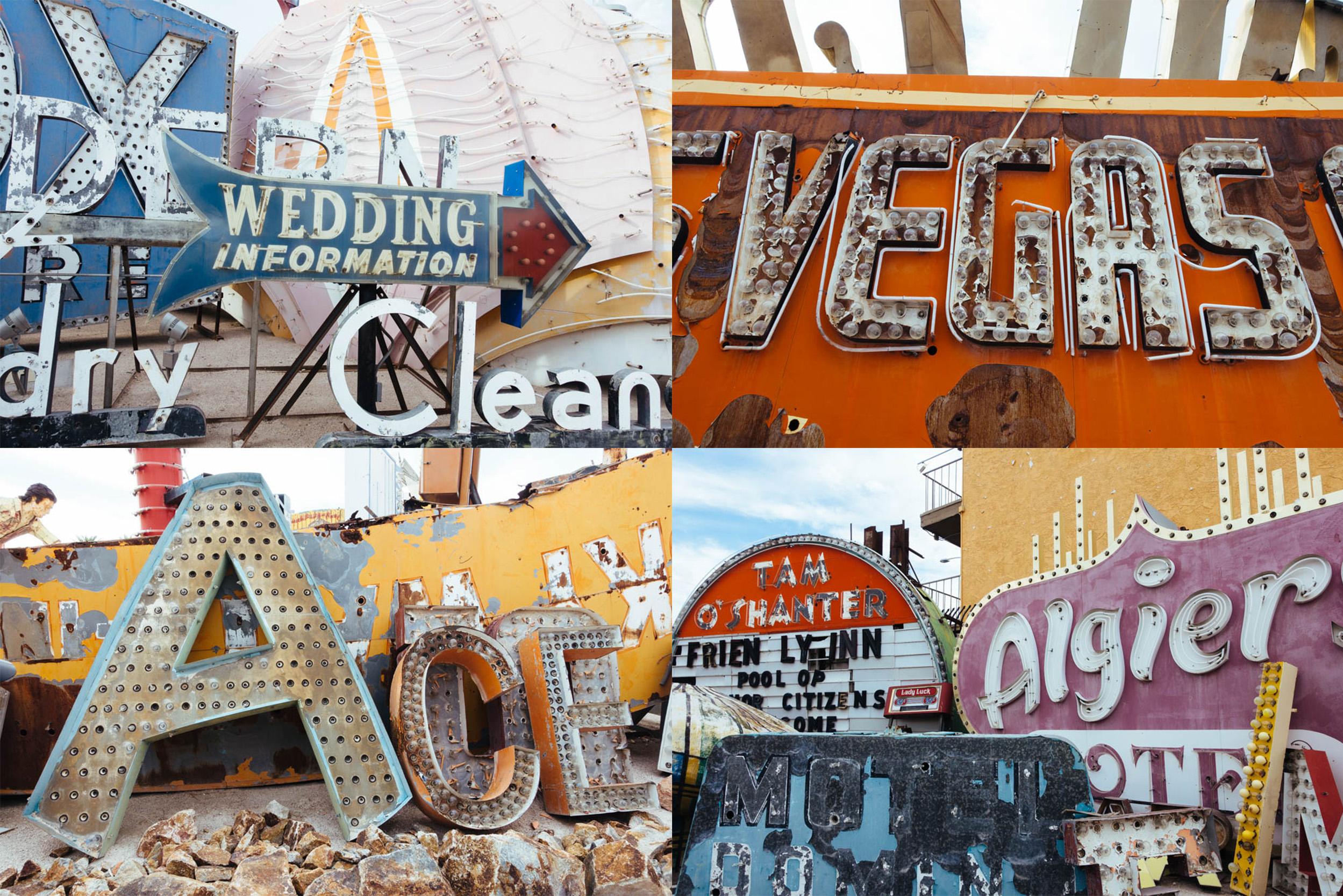 Neon Boneyard signs