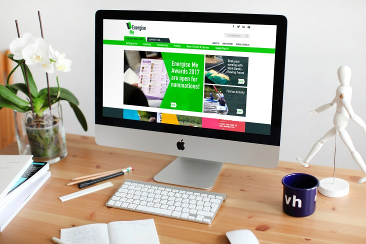 website design for Energise Me