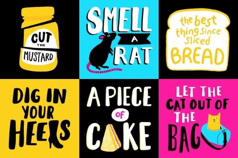 Idiom design and lettering challnge