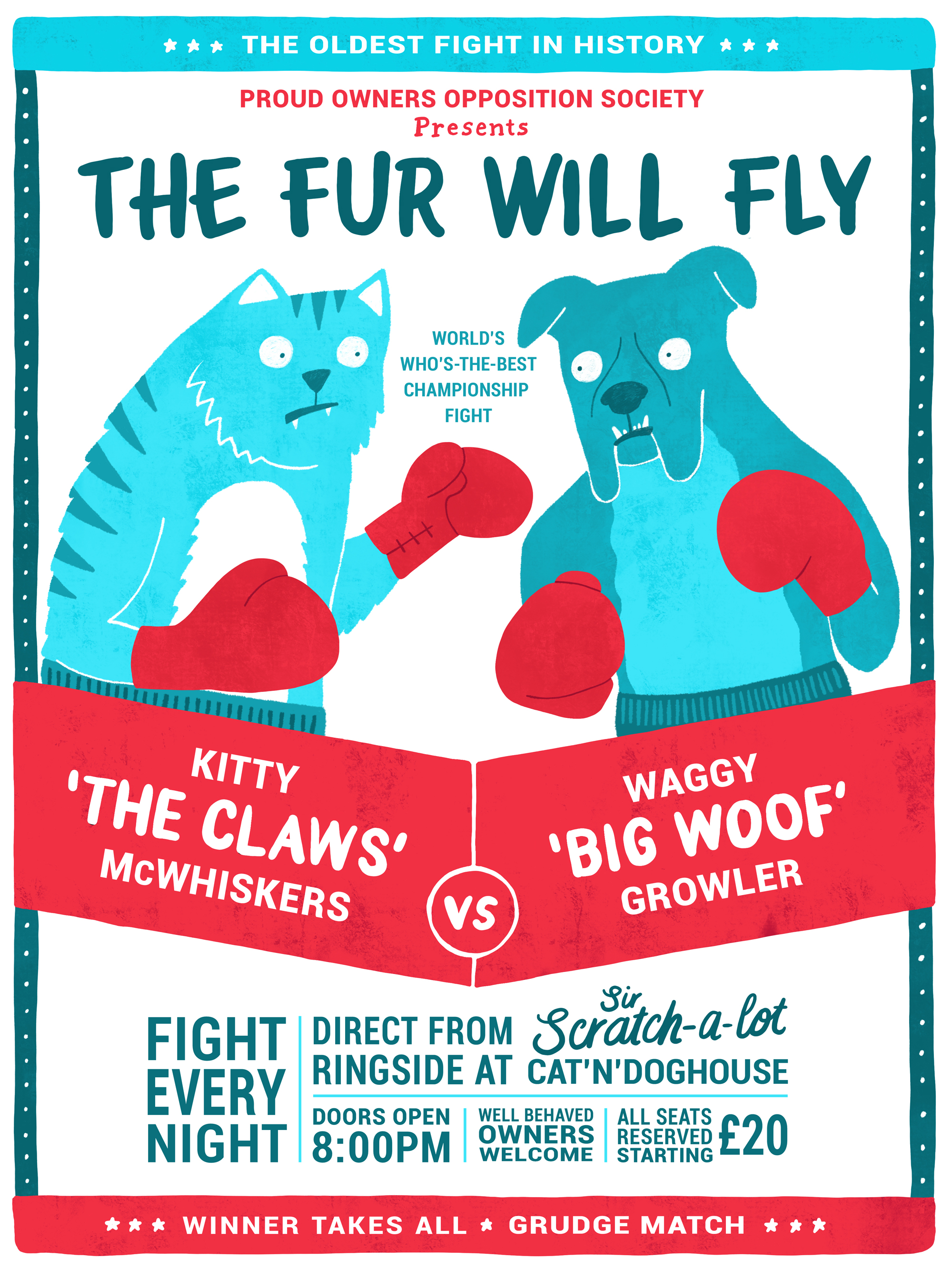 Cats vs dogs poster