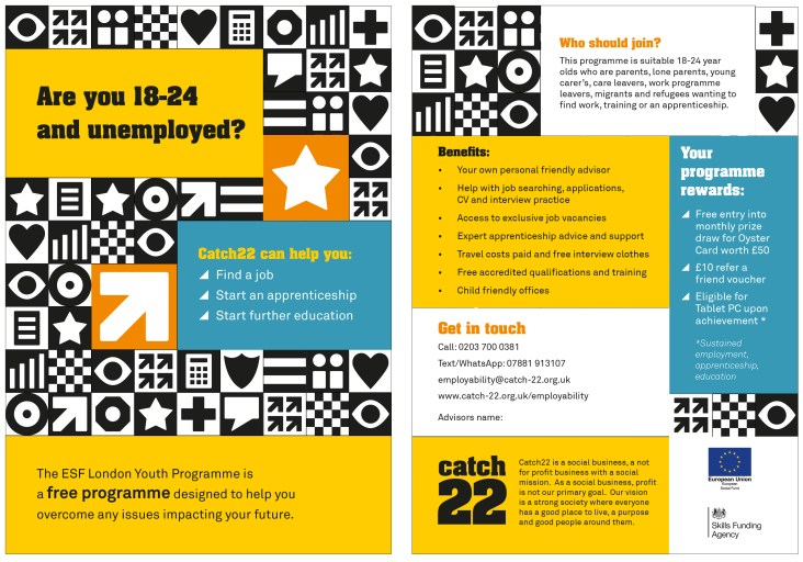 Catch22 leaflet design