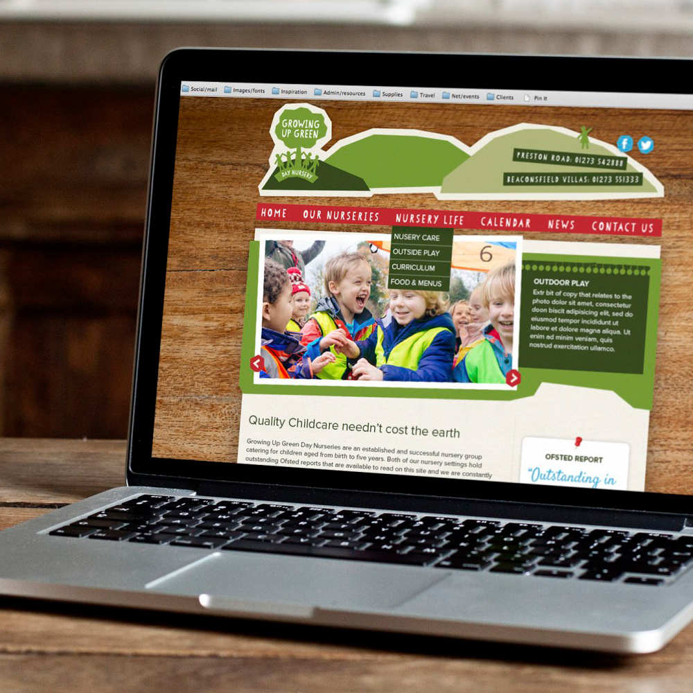 Growing Up Green website design