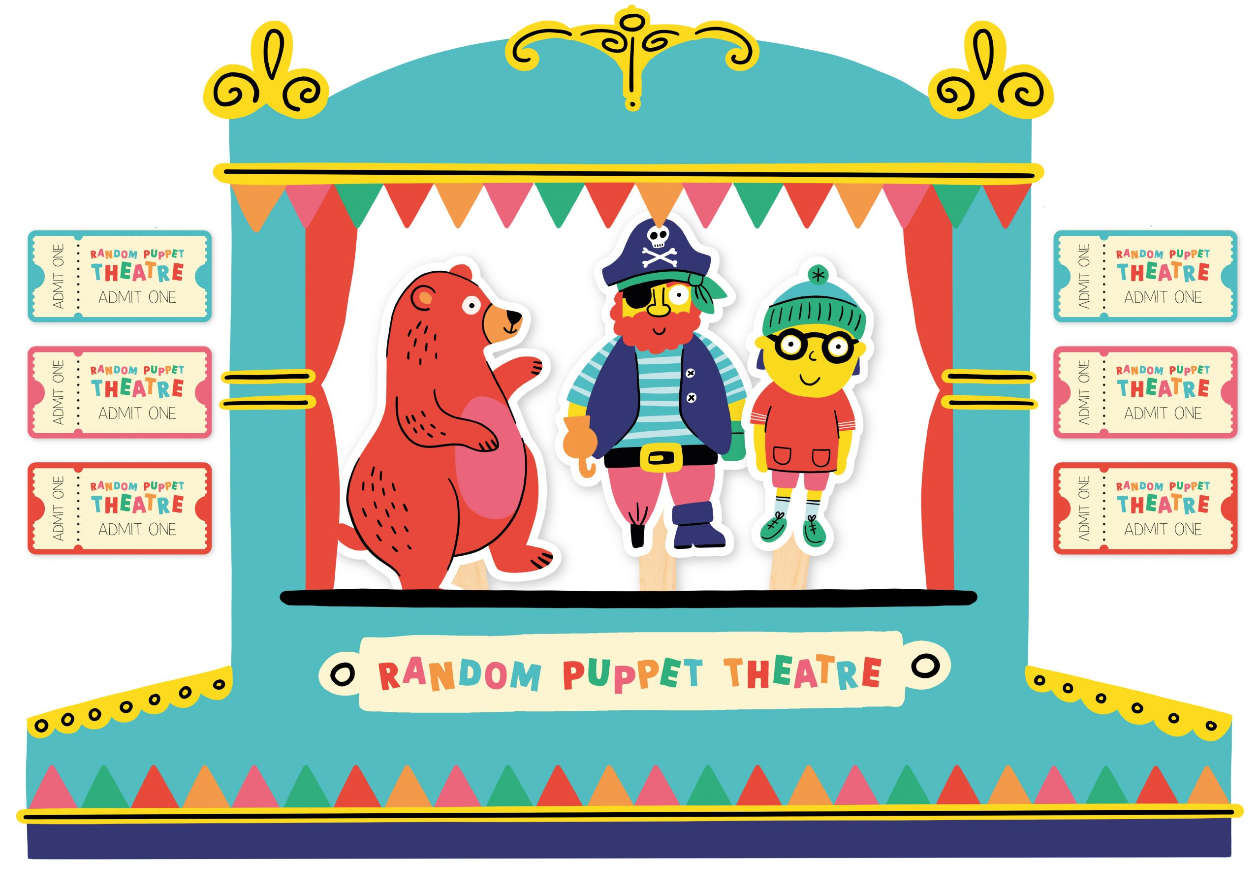 Puppet theatre illustration and design