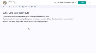 Zoho Connectのフォーラム画面