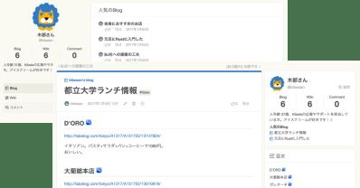 kibelaのBlog画面
