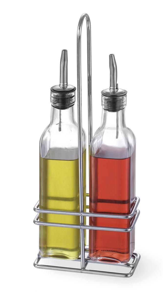 menagere 2 pieces 2 bouteilles huile vinaigre 230 ml