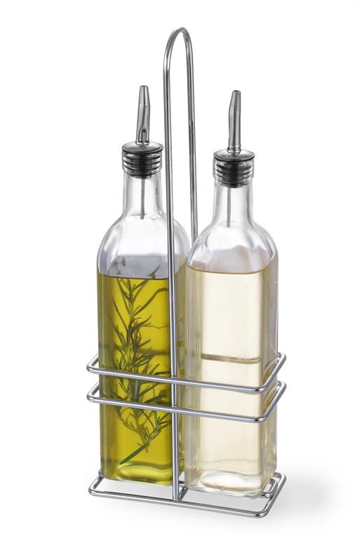 menagere 2 pieces 2 bouteilles huile vinaigre 470 ml