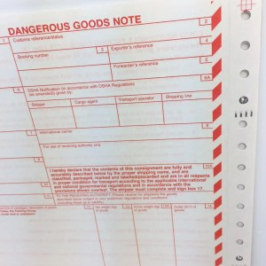 DGNs SITPRO dangerous goods notes