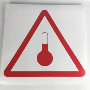 elevated temperature labels