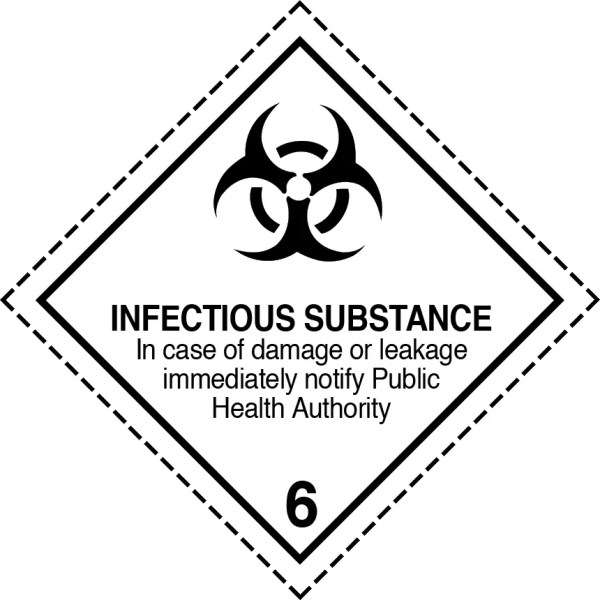 infectious substance label, class 6.2 labels