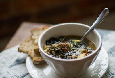 Sausage, Kale and White Bean Soup for a Cold Day