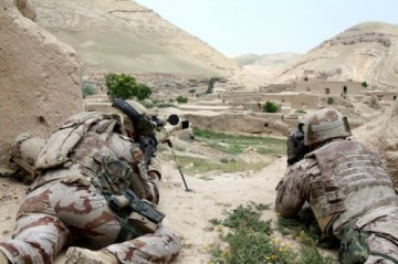 Equipo de tiradores de precisión en Baghris, Afghanistan.