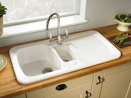 ceramic kitchen sink table placemats the pros cons of sinks