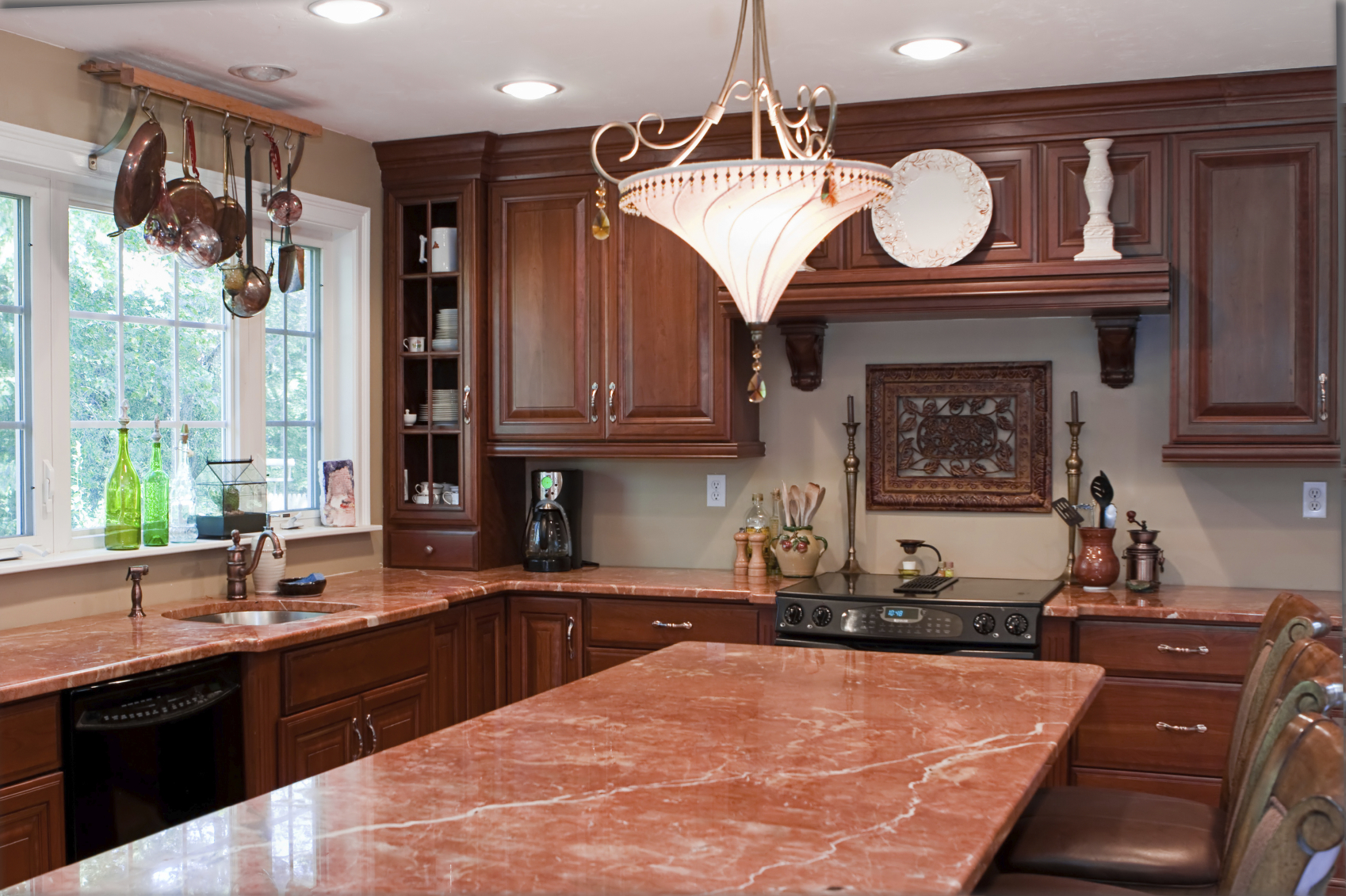 kitchen cabinet patterns window curtain ideas the pros & cons of tile countertops