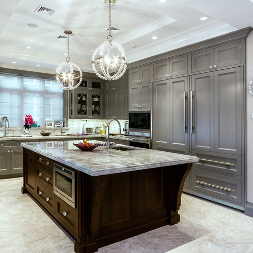 grey kitchen cabinets tile flooring ideas 6 design for gray a two tone is great way to highlight your neutral color that can be dull when used in excess so introducing an