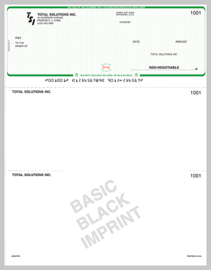Basic Imprinted Checks