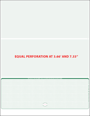 green linen bottom Equal perforation Blank Laser check