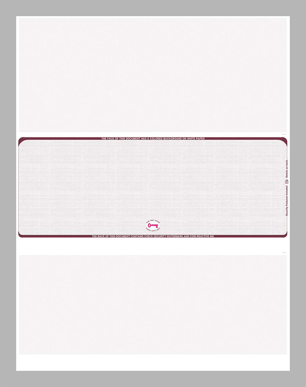 Burgundy Linen Middle Position Equal Perforations Blank