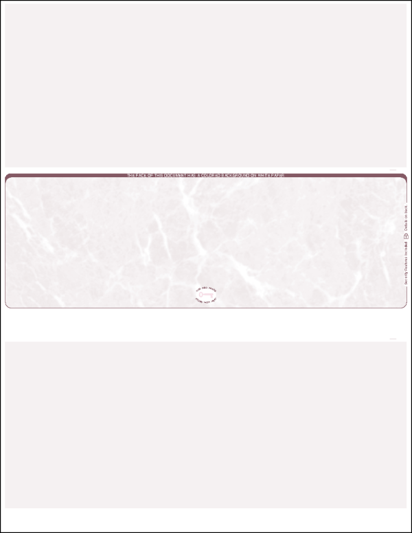 Burgundy Marble Middle Blank Laser Check